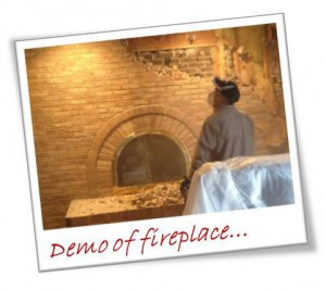 Demo Of Fireplace