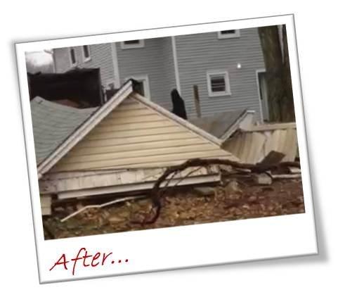 Garage Demolition After