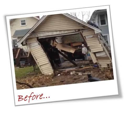 Garage Demolition Before